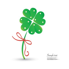 Good luck clover vector background