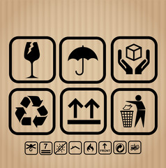 Transportation packing icon set vector