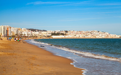 Sandy beach of Tangier, Morocco, Africa