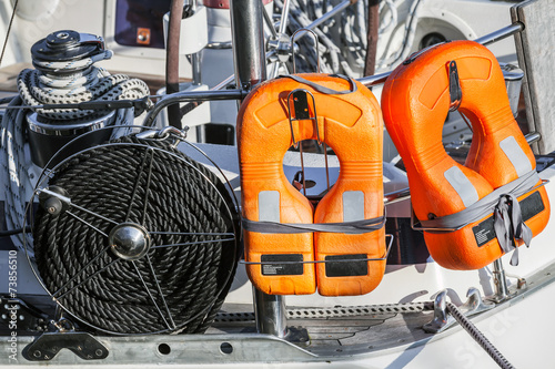 Safety equipment of modern yacht - 73856510
