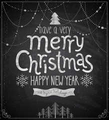 Christmas poster - Chalkboard style.