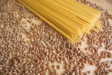 spaghetti and wheat