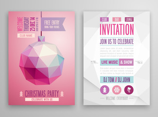 Christmas flyer - geometric style.