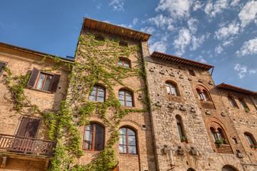 ancient buildings in San Gimignano, Tuscany, Italy