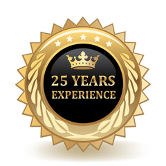 Twenty Five Years Experience Badge