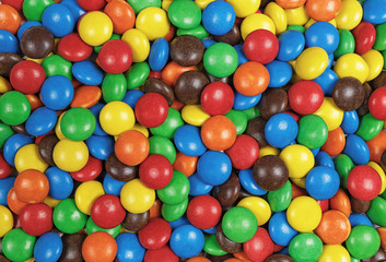 Candy chocolate multicolor background