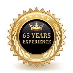 Sixty Five Years Experience Badge