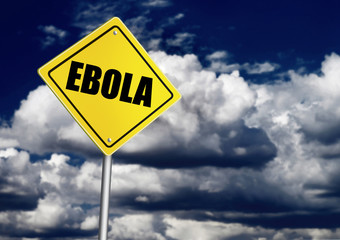 Ebola ahead sign