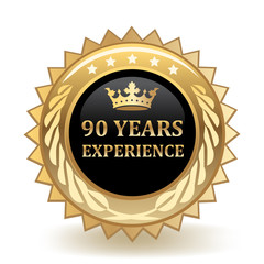 Ninety Years Experience Badge