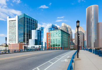 Modern buildings in The financial district in Boston - USA