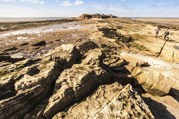Hilbre Island from Middle Eye, Wirral, Engalnd