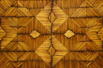 Geometric pattern of old matchsticks