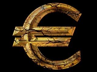 Grunge Euro symbol