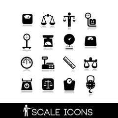 Scales, balance - Icons set 2