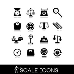 Scales, balance - Icons set 4