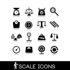 Scales, balance - Icons set 4