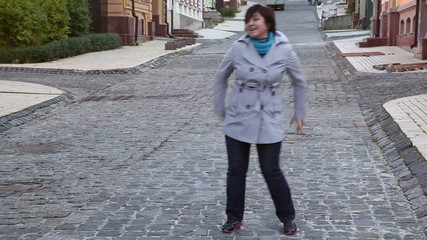 woman dancing in the street 1