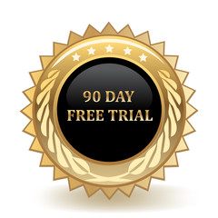 Ninety Day Free Trail Badge