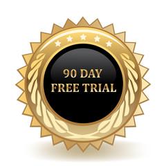 Ninety Day Free Trail Badge