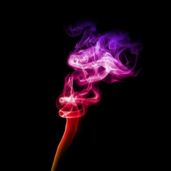 Bright purple smoke