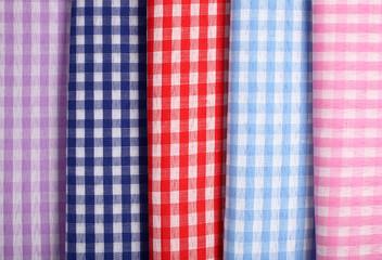 Textile plaid cotton materials