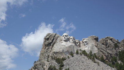 Time lapse zoom in Mt. Rushmore Presidents