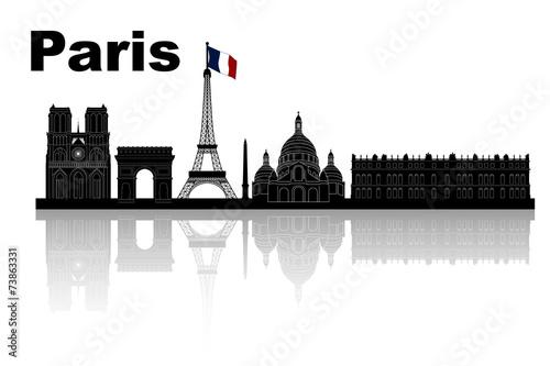 Fototapeta Paris skyline