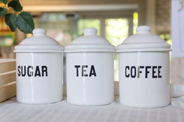 bowl of coffee tea and sugar