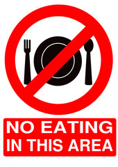 Forbidden Sign - No Eating