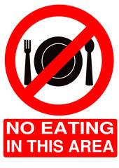 Forbidden Sign - No Eating