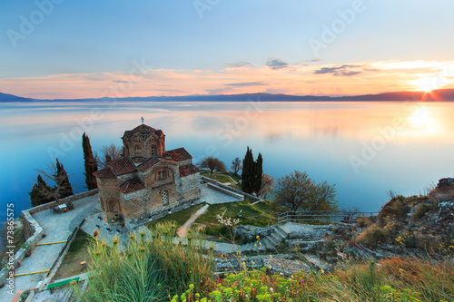 Plexiglas Oost Europa Sveti (Saint) Jovan Kaneo Church on Lake Ohrid