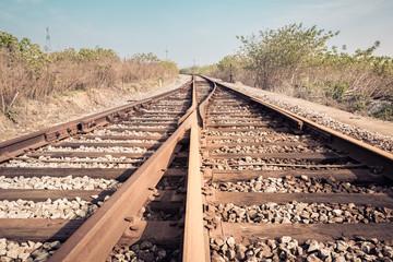 railroad turnout closeup