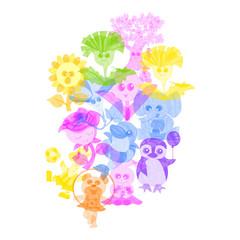かわいい動植物