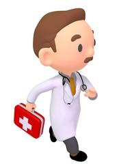 doctor run render illustration