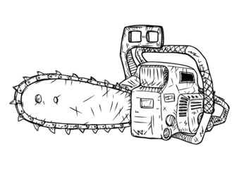 Chainsaw Vector Sketch