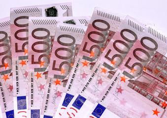 Euro banknotes, five hundred