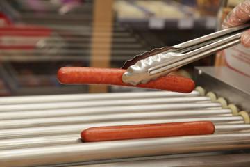 Grill sausage fast food