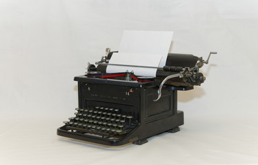 Old typewriter - front sideview