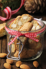 Italian Almond Cantuccini with Christmas decoration