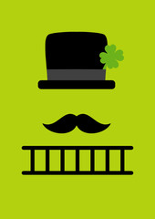 Abstract Chimney Sweeper Green DIN