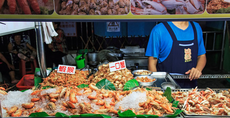 Street food market in Kenting night market