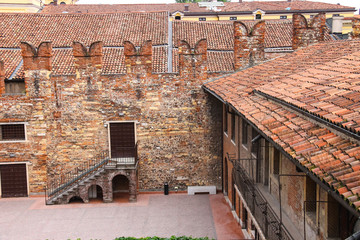 In the courtyard of Juliet's house. Verona, Italy