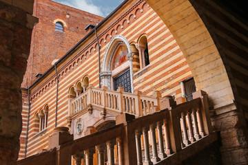 Staircase of reason in courtyard  the Palazzo della Ragione in V