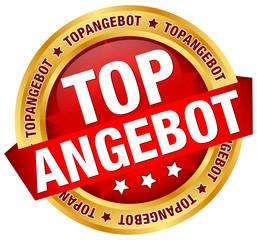 """Button Banner """"Topangebot"""" rot/gold"""