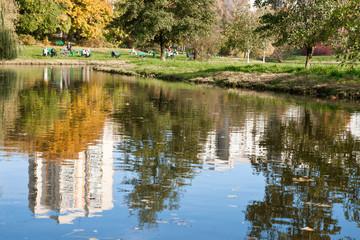 Pond in Skaryszewski Park