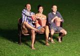 three friends watching a movie - 73871572