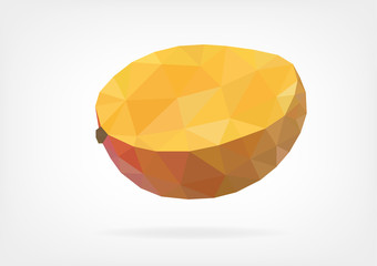 Low Poly Mango Fruit