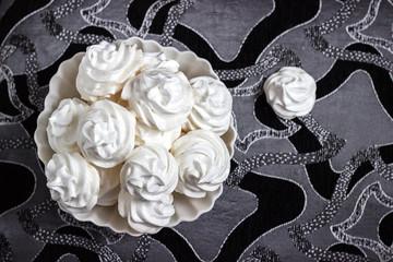 meringue on the plate