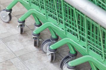 Wheels of shopping carts