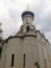 белый однокупольный храм